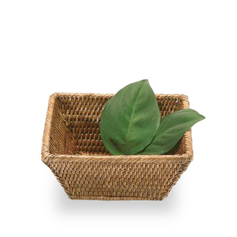Woven rattan small rectangular basket