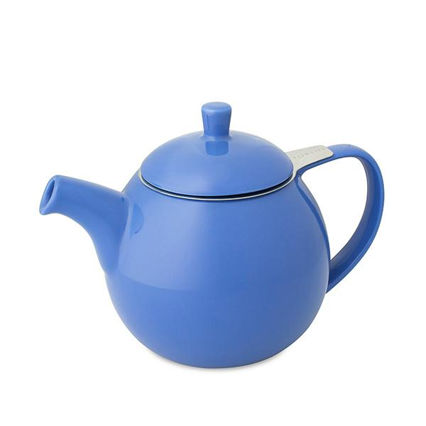 Globe ceramic teapot with infuser