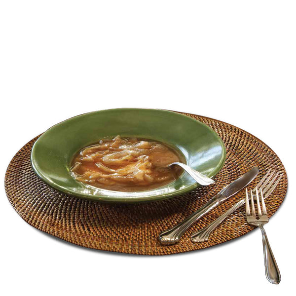 Woven rattan placemats, square