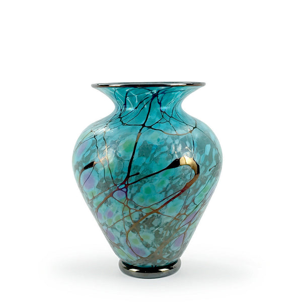 Handcrafted art glass wide Serenity vases by David Lindsay
