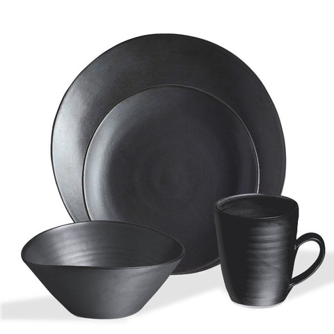 Simon Pearce Barre 4-piece setting with cereal bowl