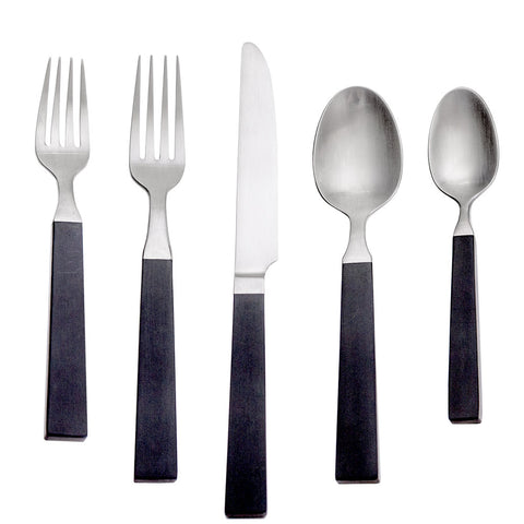 Simon Pearce Westport 5-piece flatware setting in a gift box