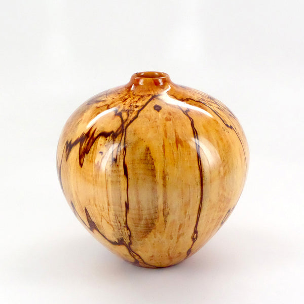 One-of-a-kind handcrafted wood vessel in spalted alder