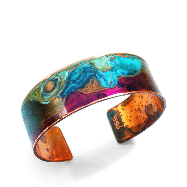 Melissa Lowery narrow verdigris copper cuff