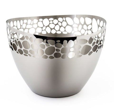 River stones stainless steel ice bucket