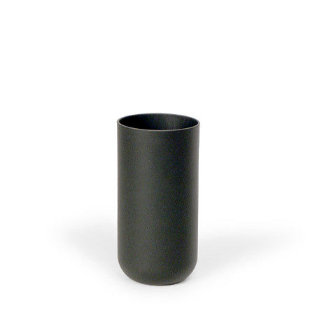 Sugahara Black matte glass straight-sided tumbler