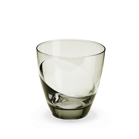 Sugahara Cascade Carbon two-tone fused old fashioned glass