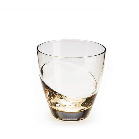Sugahara Cascade Gold two-tone fused old fashioned glass