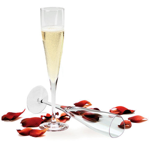 Sugahara Swirl craft glass champagne flute