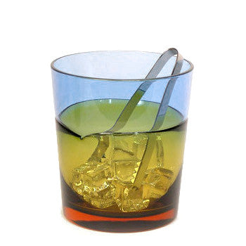 Sugahara Duo Blue-Amber two-tone fused glass ice bucket