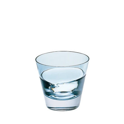 Sugahara Duo Indigo two-tone fused sake glass