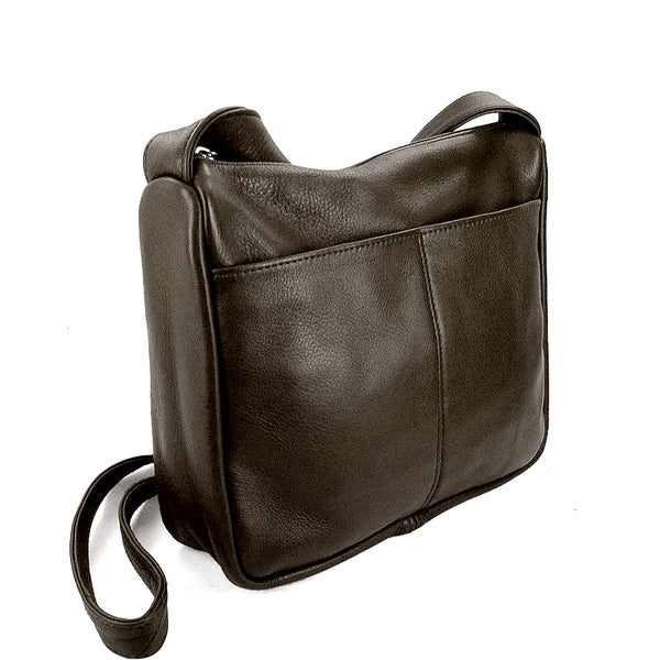 Sven classic medium leather crossbody bag