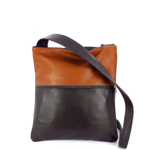 Sven colorblock lightweight vertical leather crossbody bag