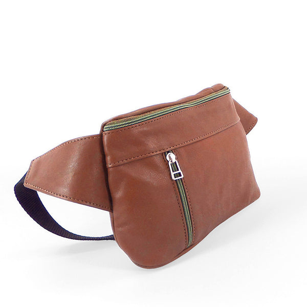 Sven multi-compartment leather fanny pack