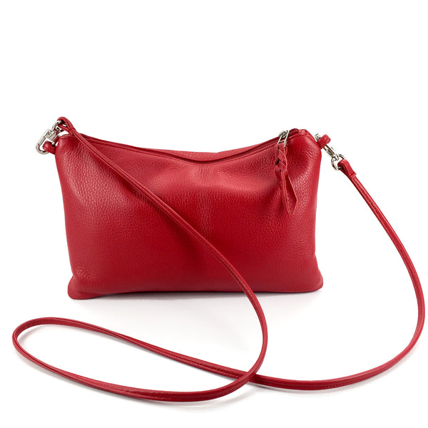 Sven leather crossbody bag with detachable strap