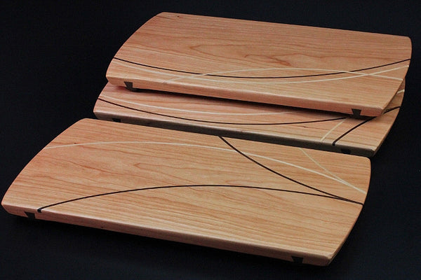 Inlaid cherry wood boards
