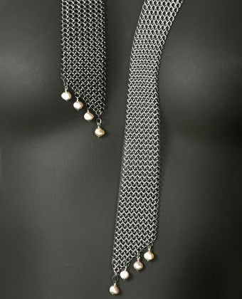 Stainless steel chain maille scarf necklace