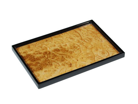 Lacquered wood vanity tray