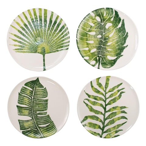 Vietri Into the Jungle dinner plates, set of 4