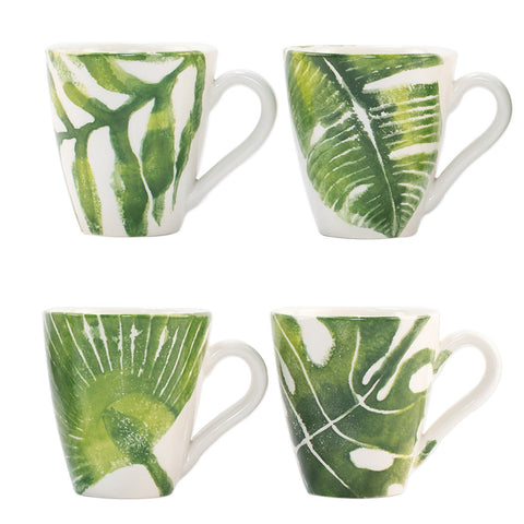 Vietri Into the Jungle mugs, set of 4