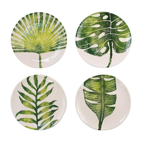 Vietri Into the Jungle salad plates, set of 4