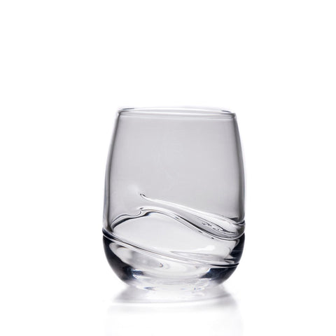 Simon Pearce Waterbury double old fashioned glass