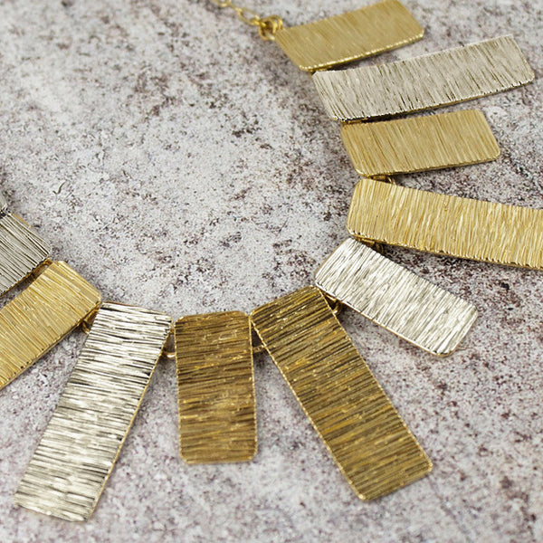 Amy Torello striated silver and gold vermeil Cleopatra necklace