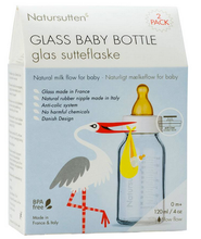 Load image into Gallery viewer, Glass Baby Bottle, 2 Pack