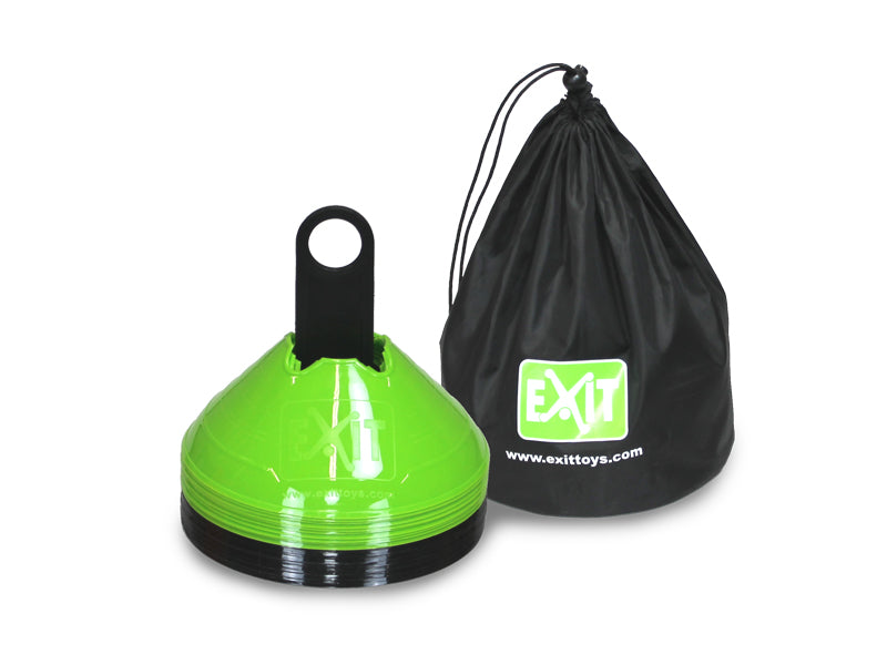 EXIT marker cones (20 pieces) - green/black