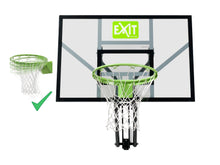 Load image into Gallery viewer, EXIT Galaxy wall-mounted basketball backboard with dunk hoop - green/black