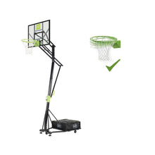 Load image into Gallery viewer, EXIT Galaxy portable basketball backboard on wheels with dunk hoop - green/black