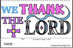 Thank Lord too