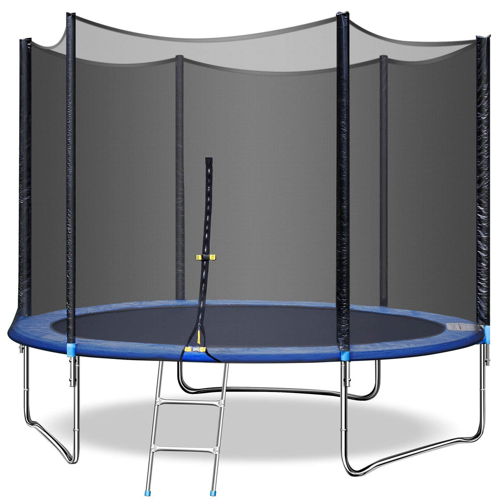 10 FT Trampoline with Enclosure-Outdoor Trampoline