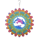 3D DOLPHIN WIND SPINNER GARDEN DECOR