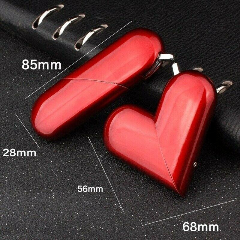 Foldable heart-shaped lighter