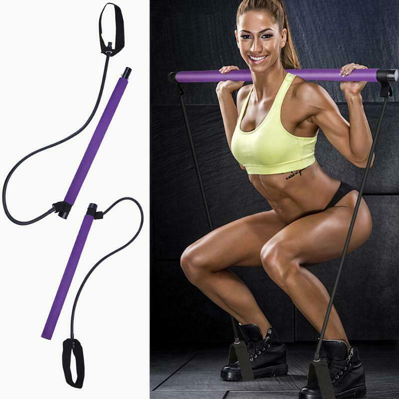 Exercise Pilates Bar Kit with Resistance Band Pilates Stick Toning Bar - Broadwaytrending Shop