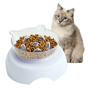 Orthopedic Cat Bowl & Slow Feeder 2-in-1 [Anti-Vomiting] - Broadwaytrending Shop