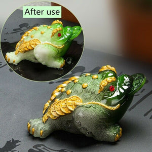 Color Changing Golden Toad Tea Pet