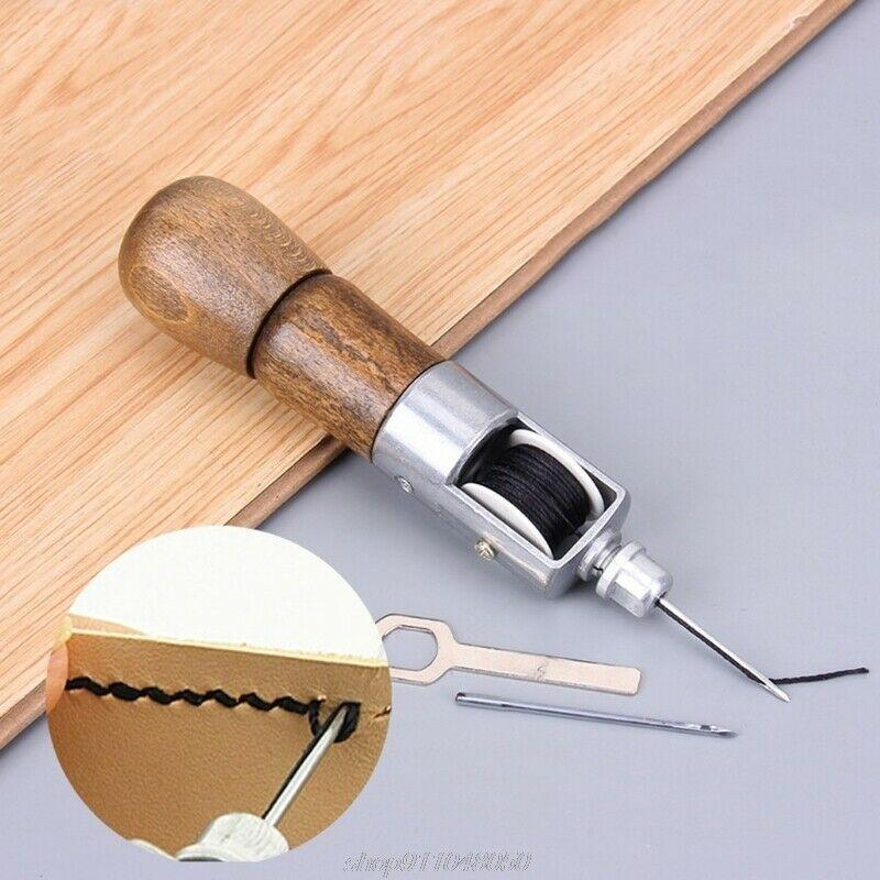 LEATHER SEWING AWL KIT HAND STITCHER SET