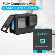 Load image into Gallery viewer, Artman Hero 9 Replacement Batteries(2-Pack) Compatible with Gopro Hero 9 Black, Hero9 Black Fully Compatible with Hero 9 Original(1800mAh)