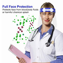 Load image into Gallery viewer, Clear Face Shield 10-Pack,Homesuit Anti-fog Reusable Safety Face Shields,Full Protection Transparent Clarity Face Shield for Men Women Kids