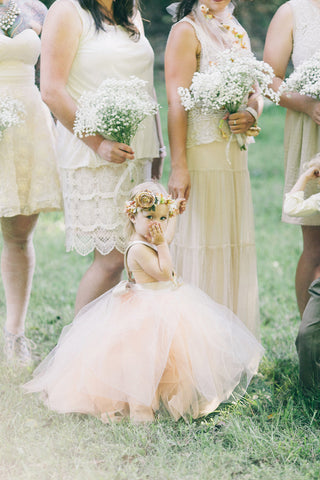 Flower Girl Blowing Kisses Wedding Ceremony