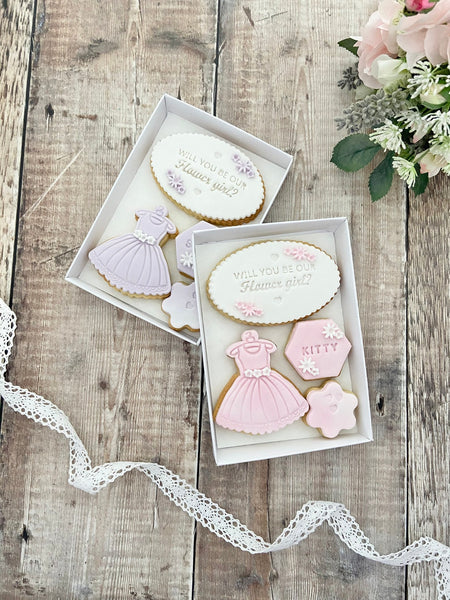 Flower Girl Proposal Box Will You Be My Flower Girl Cookies