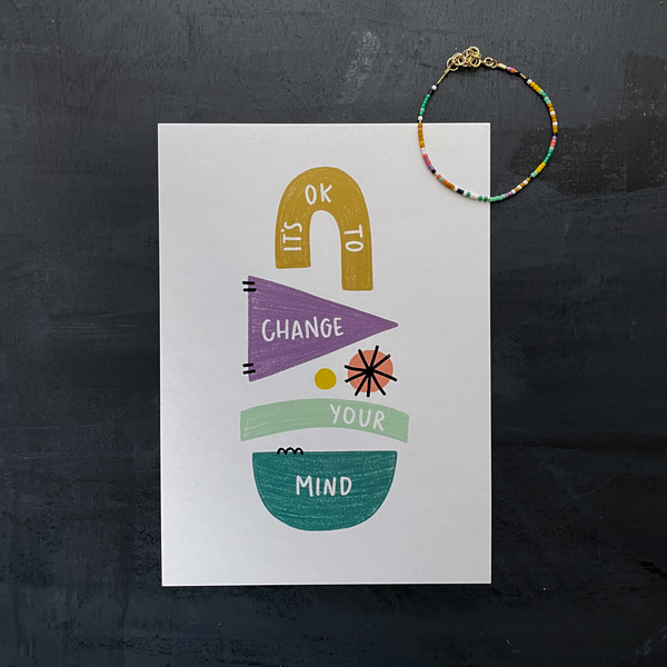 It's Ok To Change Your Mind Mindset Matters Print
