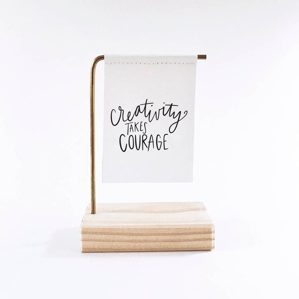 Creativity Takes Courage Standing Banner