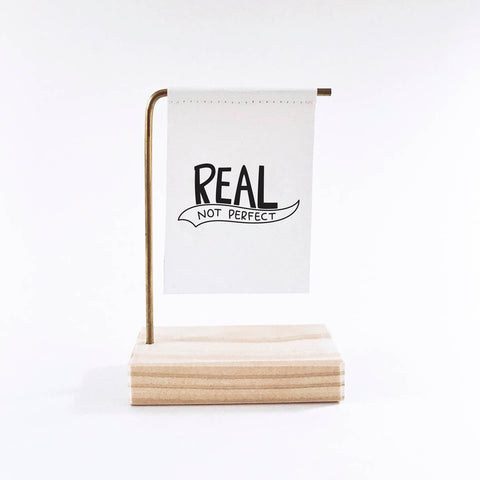 Real Not Perfect Standing Banner