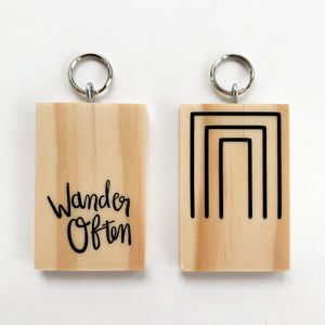 Wander Often Keychain