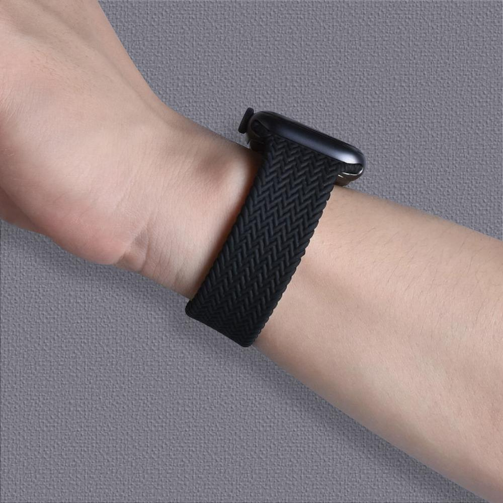 Woven Texture Silicone Strap for Apple Watch (Only Strap Not Watch)