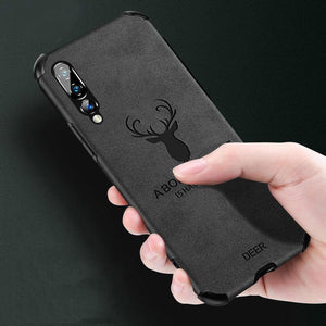 Galaxy A50S Shockproof Deer Leather Texture Case
