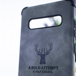 Galaxy S8 Plus Shockproof Deer Leather Texture Case